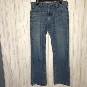 Levis Denizen 233 low boot cut Mens jeans 34x32
